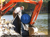 Repairing Lake Gaston Shorelines
